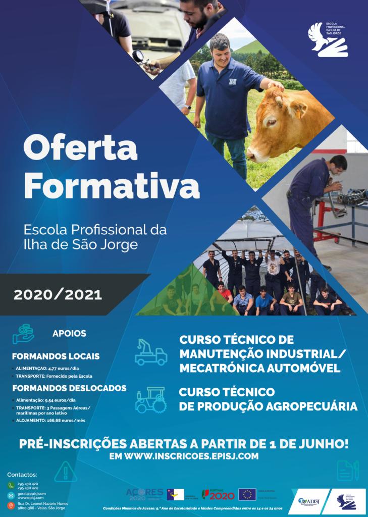 Oferta Formativa 2020/2021 - Escola Profissional da Ilha de São Jorge